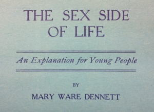 "Title from front cover of the ""Sex Side of Life"" pamphlet"