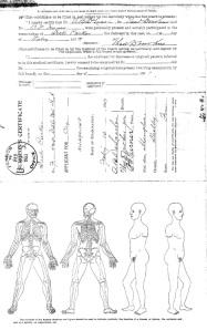 Surgeon's Certificate for  Dick Parker Wills 1903