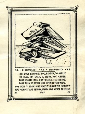 Dr. Henry Pelouze de Forest's bookplate