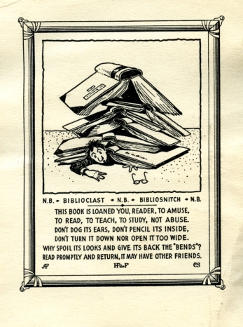 Dr. Henry Pelouze de Forest's bookplate
