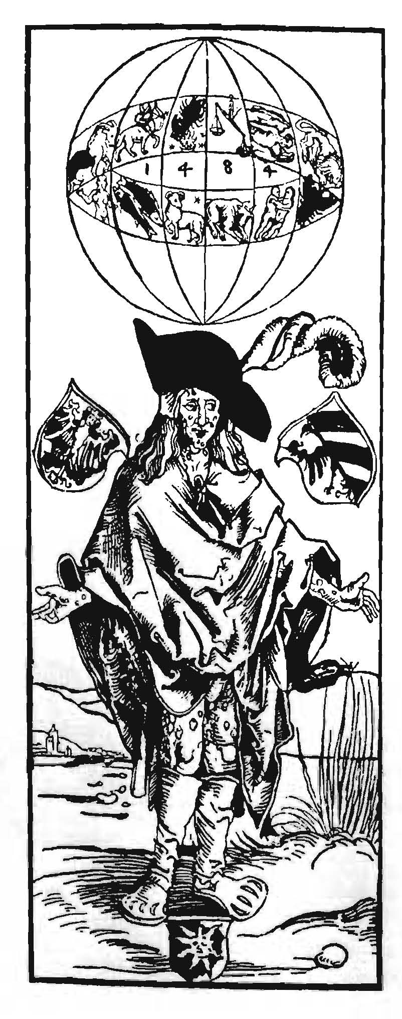 Albrecht Durer's woodcut of a syphilitic man.