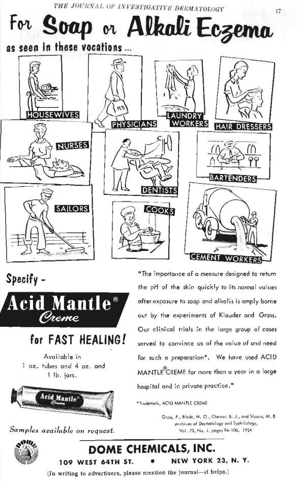 1955: We love the cartoon depictions of each gendered occupation, barefoot sailor and all.