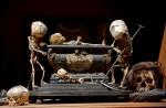 Fetal Skeleton Tableau, 17th Century, University Backroom, Paris