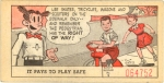"""Card 2, with Dagwood Bumstead from """"Blondie."""""""