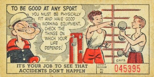 Card 45, featuring Popeye.