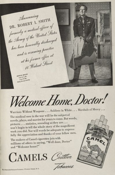 """Welcome Home, Doctor!"" Published in Medical Woman's Journal, volume 52, number 12, December 1945."