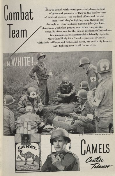 Combat Team in White! Published in Medical Woman's Journal, volume 52, number 5, May 1945. Click to enlarge.