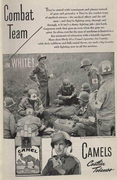 Equipo de Combate en blanco!  Publicado en Diario de la mujer Médico, volumen 52, número 5, de mayo de 1945. Haga click para ampliar.