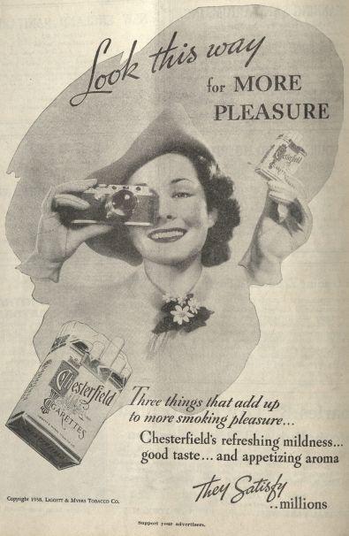"""""""Mira esta manera por más placer.""""  Publicado en la revista New England Journal of Medicine, volumen 218, número 14, 7 de abril de 1938. Haga click para ampliar."""