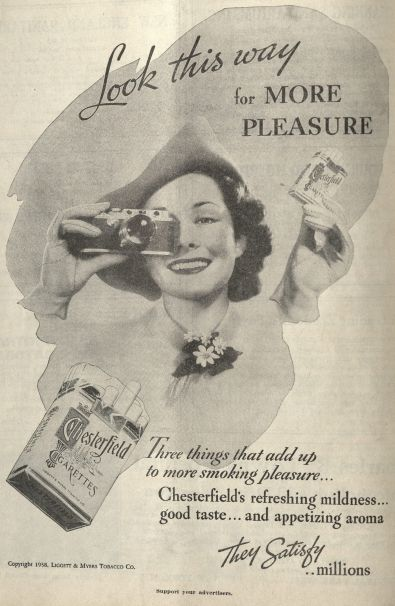 """Look this way for more pleasure."" Published in the New England Journal of Medicine, volume 218, number 14, April 7, 1938. Click to enlarge."