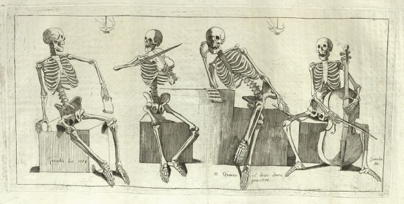 Skeleton Musicians from Jacques Gamelin