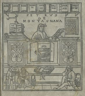Book storage methods as shown in Fasciculus Medicinae, published in 1495.