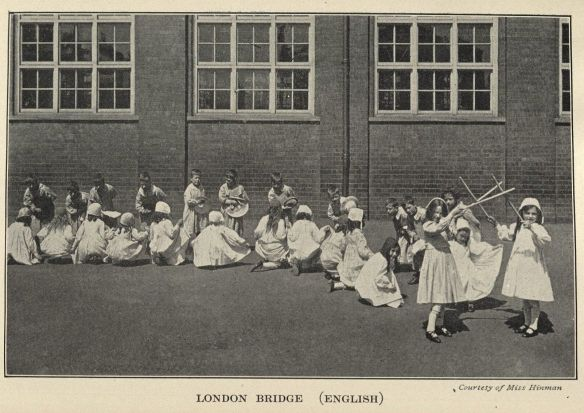 """London Bridge,"" a photograph in The Healthful Art of Dancing. Click to enlarge."
