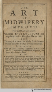 Title page to The Art of Midwifery, Improv'd.