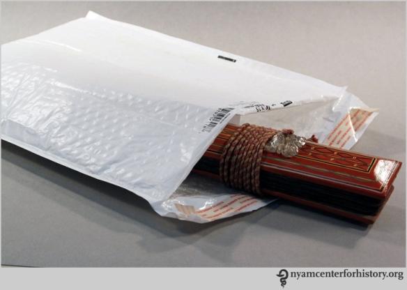An ola in a mailer bag.