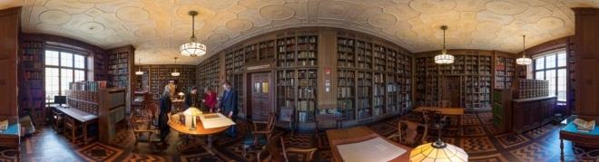 The Drs. Barry and Bobbi Coller Rare Book Reading Room captured by Ardon Bar-Hama.