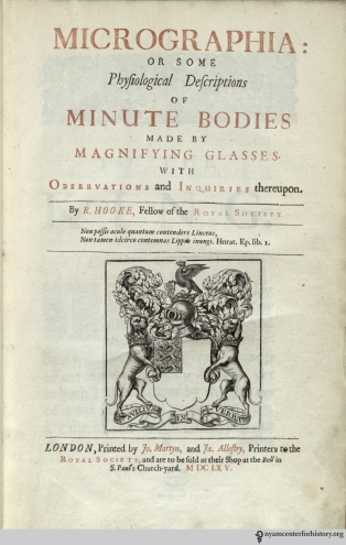 The title page of Hooke's Micrographia.