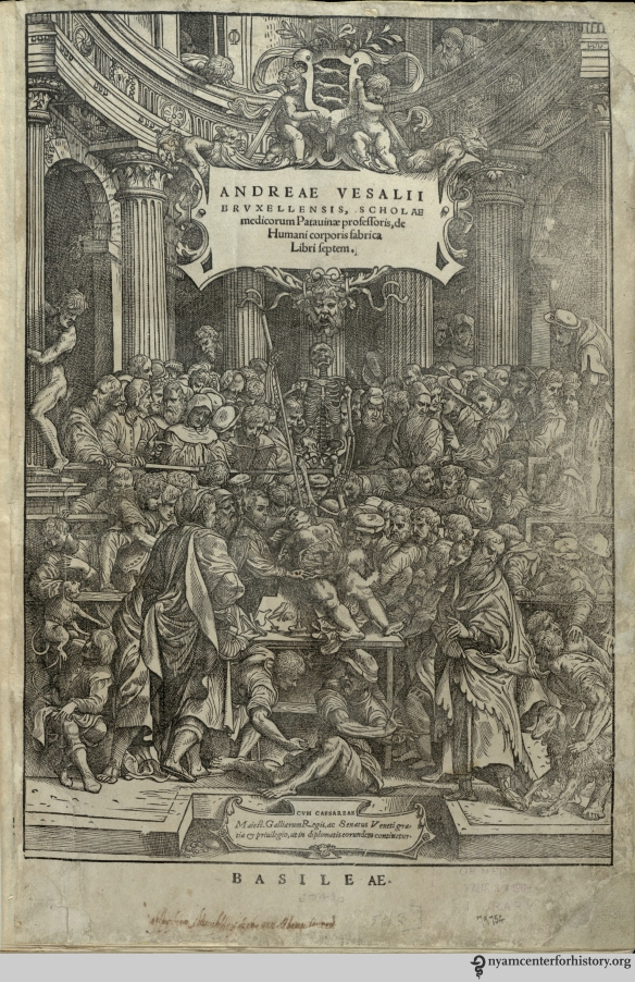 The frontispiece to the 1543 Fabrica in our collection.