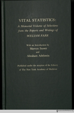 The cover of the NYAM edition of Vital Statistics.