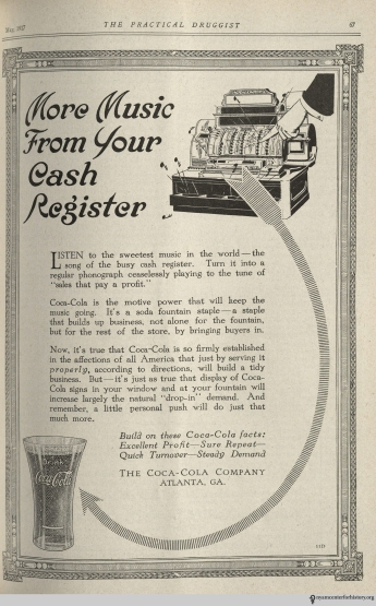 Ad published in The Practical Druggist and Review of Reviews, volume 35, number 5, May 1917. Click to enlarge.