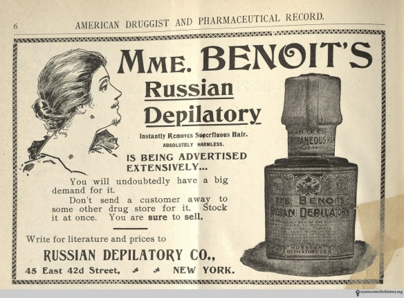 Ad published in American Druggist and Pharmaceutical Record, volume 36, number 2, January 25, 1900.