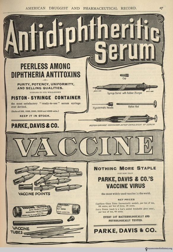 Ad published in American Druggist and Pharmaceutical Record, volume 45, November 7, 1904.
