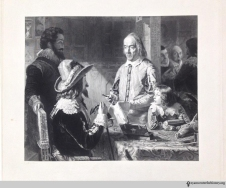 William Harvey (1578–1657) demonstrating his theory of the circulation of blood to King Charles I and the boy prince on the heart of a dissected deer. Engraving by Henry Lemon after a drawing by Robert Hannah.