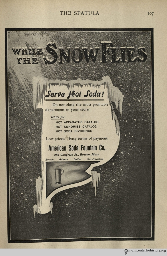 Ad published in The Spatula, November 1910.