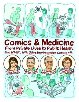 2014 Comics & Medicine poster. Art by Lydia Gregg.