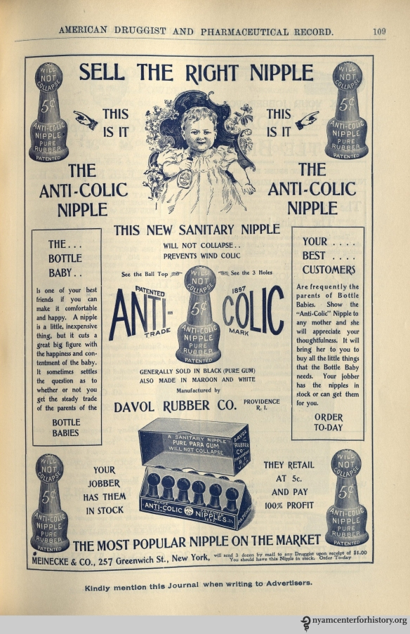Ad published in American Druggist and Pharmaceutical Record, volume 36, number 6, March 25, 1900.
