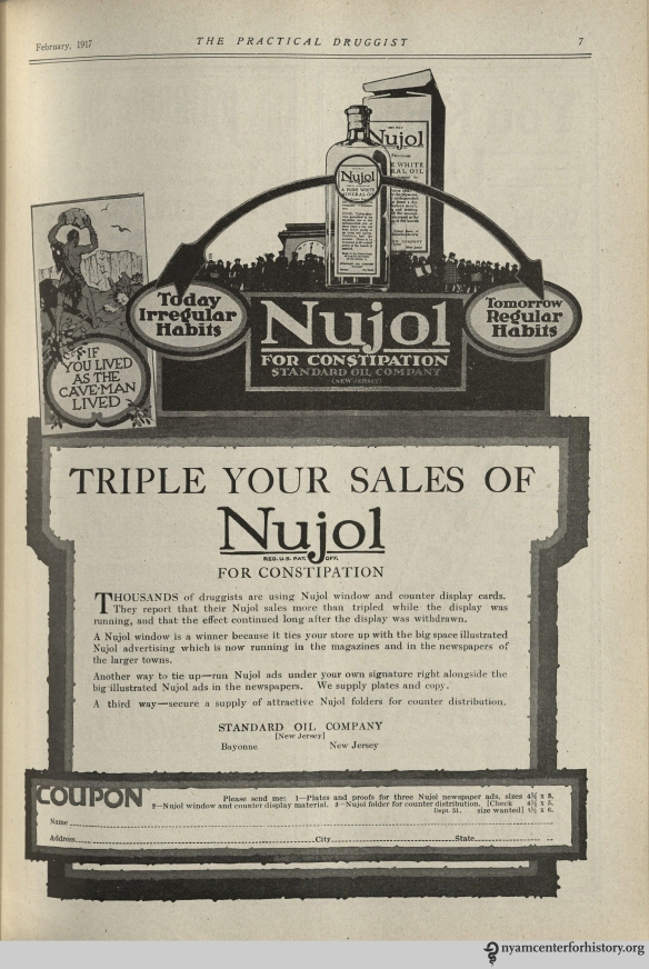 Ad published in The Practical Druggist and Review of Reviews, volume 35, number 2, February 1917.