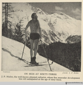 """On skis at 63."" From The Golden Health Library."