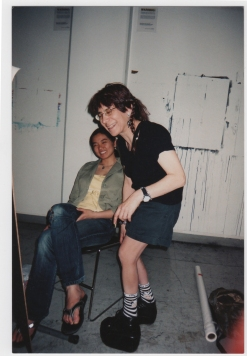 Riva Lehrer teaching at the School of the Art Institute of Chicago, circa 2008. Photo courtesy of Riva Lehrer.