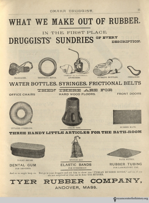 Ad published in Omaha Druggist, volume 7, number 1, January 1894.