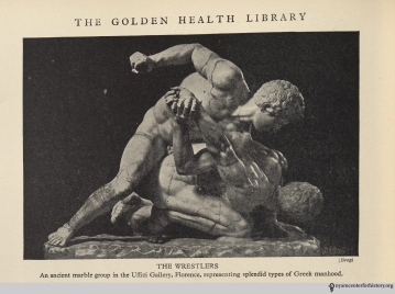 """The wrestlers."" From The Golden Health Library."