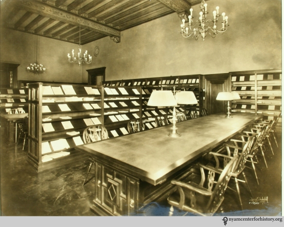 The current periodicals room of the New York Academy of Medicine Library, circa ____.