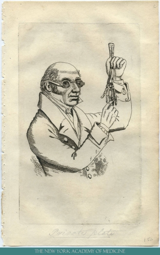 Engraving of Dr. Robert Knox. From our online collection The Resurrectionists.