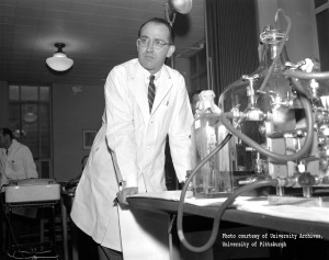 Jonas Salk. Courtesy of  the Steeltown Entertainment Project. Click to enlarge.