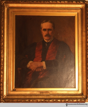 A portrait of Dr. Robert Fulton Weir.