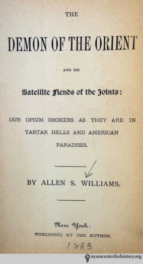 Title page of The Demon of the Orient and his Satellite Fiends of the Joints.
