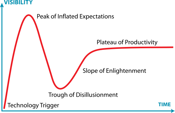 Gartner Hype Cycle, by Jeremy Kemp. Shared under CC BY-SA 3.0 license.