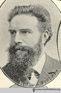 Wilhelm Röntgen. From the frontispiece to Charles E. Phillips, Bibliography of X-ray literature and research, 1896–1897; being a ready reference index to the literature on the subject of röntgen or X-rays (London: The Electrician Printing and Publishing Company, Ltd., [1897]).