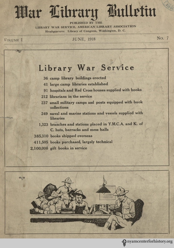 The front cover of War Library Bulletin, volume 1, number 7, June 1918.