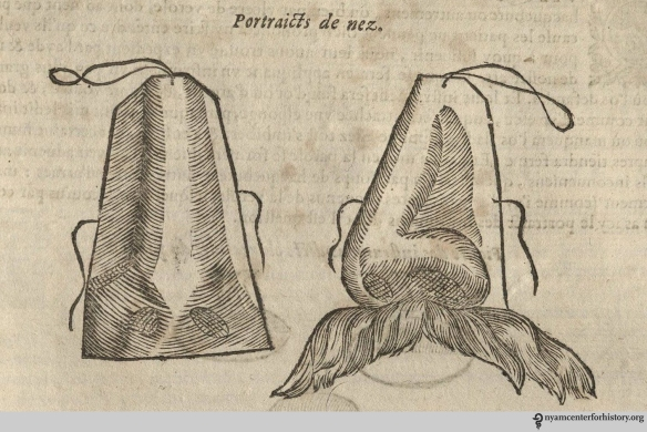 Artificial noses. From  our 1633 edition of Les oeuvres d'Ambroise Paré.