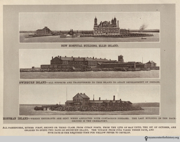 "The hospital at Ellis Island. From ""Quarantine Sketches."" Click to enlarge."