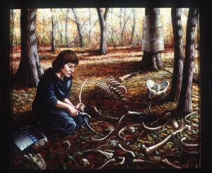 """""""In the Yellow Woods,"""" by Riva Lehrer. Click to enlarge."""