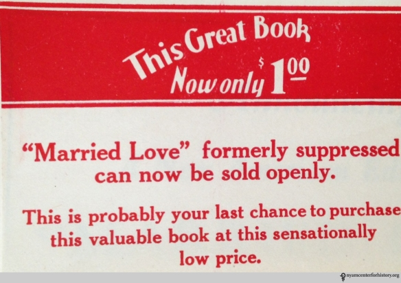 An ad for Married Love.