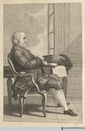 Frontispiece of The Memoirs and Writings of Benjamin Franklin, 1818.