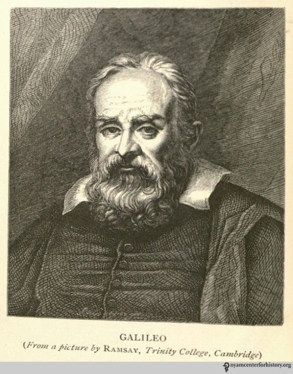 Galileo Galilei (1564–1642).  Frontispiece of Allan-Olney, The Private Life of Galileo, 1870.