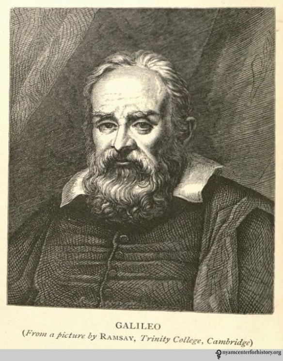 Galileo Galilei (1564–1642).  Frontispiece of Allan-Olney, The Private Life of Galileo, 1870.